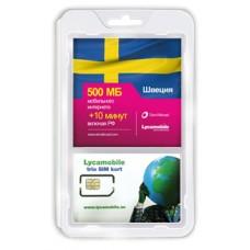 Сим карта LycaMobile интернет в Швеции Holiday
