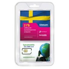 Сим карта LycaMobile интернет в Швеции 2Gb