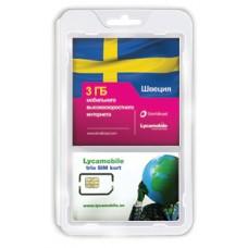 Сим карта LycaMobile интернет в Швеции 3 Gb